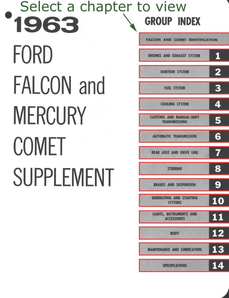 ford shop manual falcon comet 1963 supplement rh falconfaq dyndns org 1963 ford falcon service manual 1965 Ford Falcon