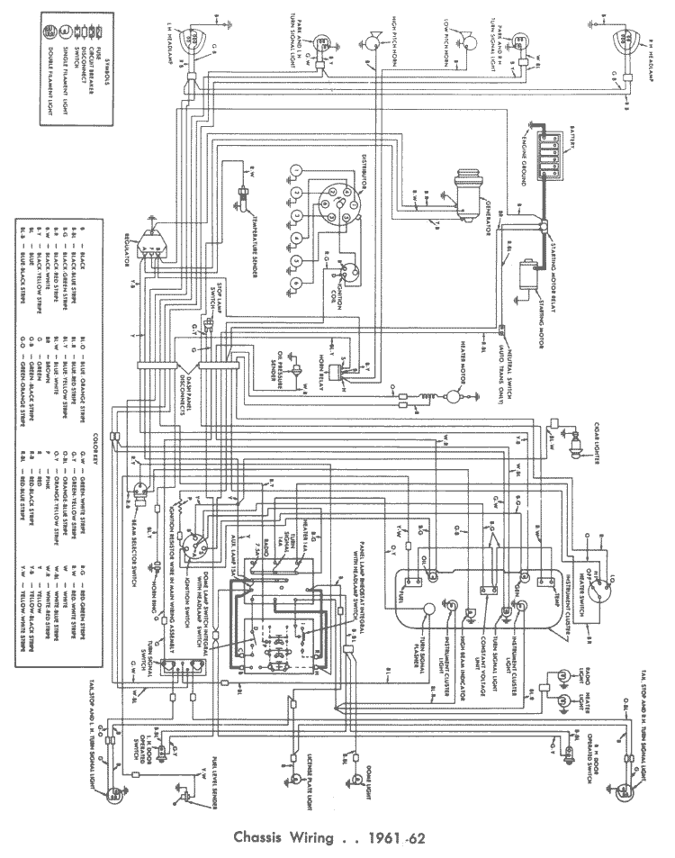 '6162 Chassis Wiring Page 141 Right Half Of ': 1964 Ford Falcon Wiring Diagram Instrument At Gundyle.co