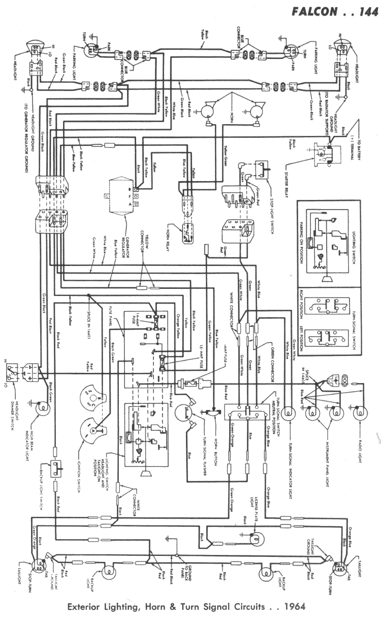 Wiring 61 62 144R falcon wiring diagrams 64 falcon wiring diagram at bakdesigns.co
