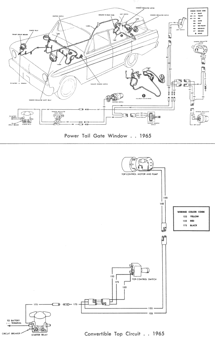 Lift Gate Pump Motor Wiring Diagram Falcon Diagrams 65 Tailgate Convertible Top Page 146 Left Half Of